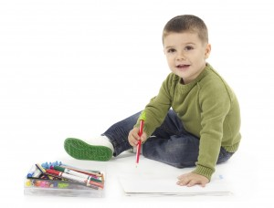 Boy with Crayon